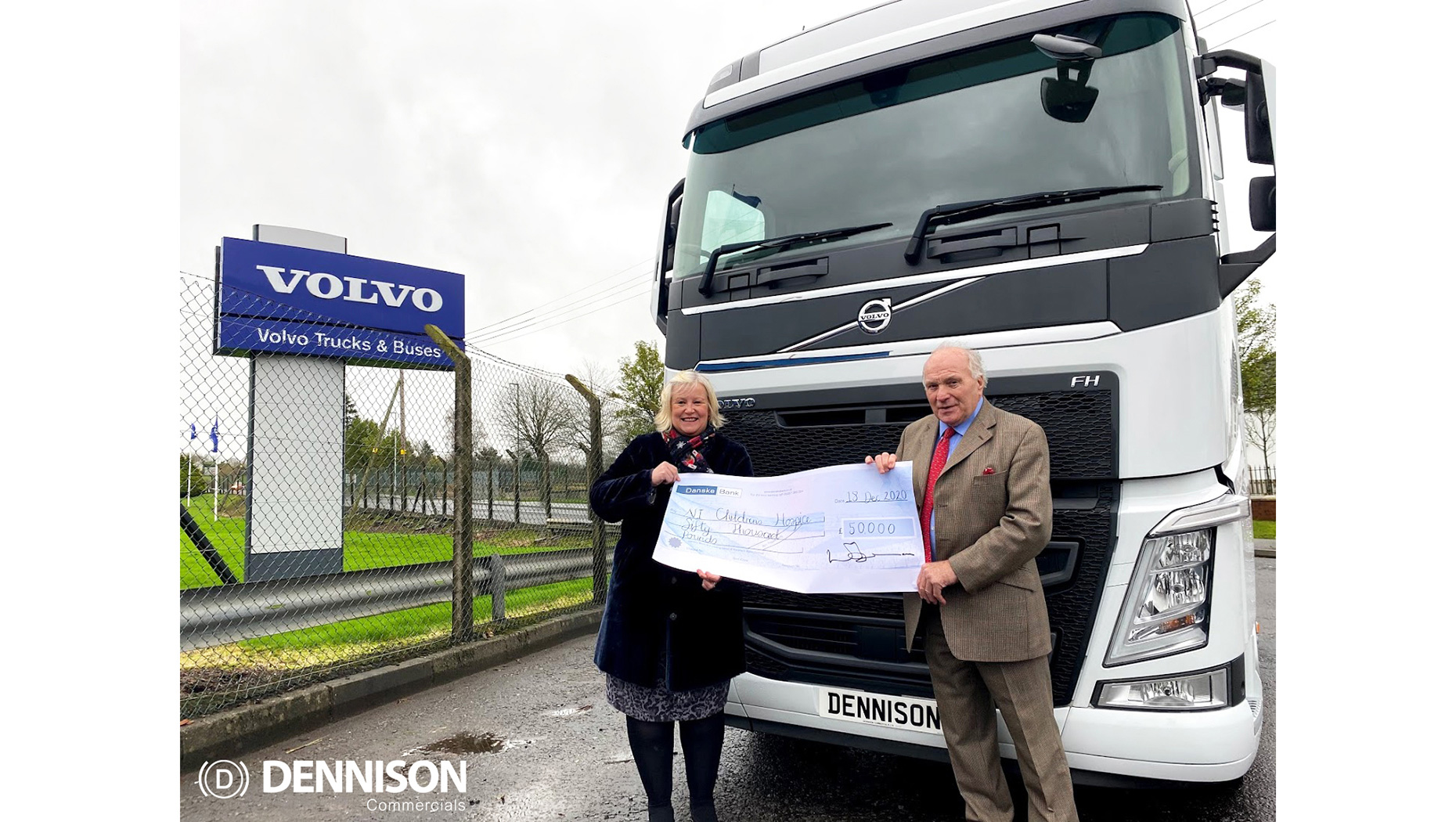 Dennison Commercials honor 50th Anniversary pledge of £50,000 to NI Children's Hospice
