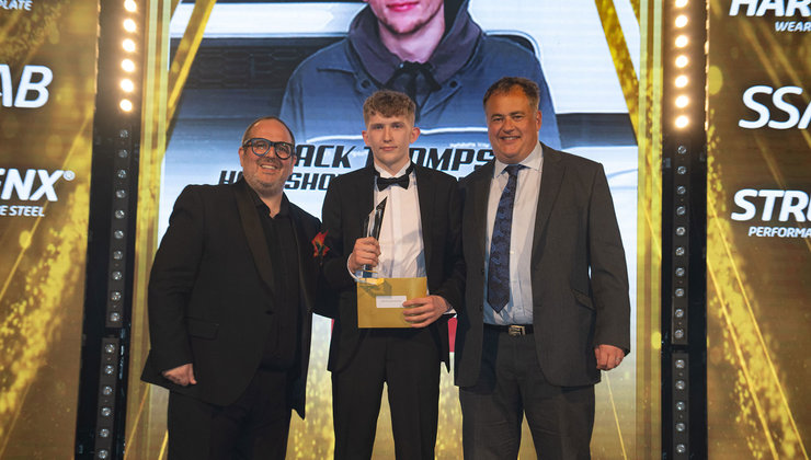 Jack Thompson of Hartshorne Group, Birmingham collected the prestigious Apprentice of the Year