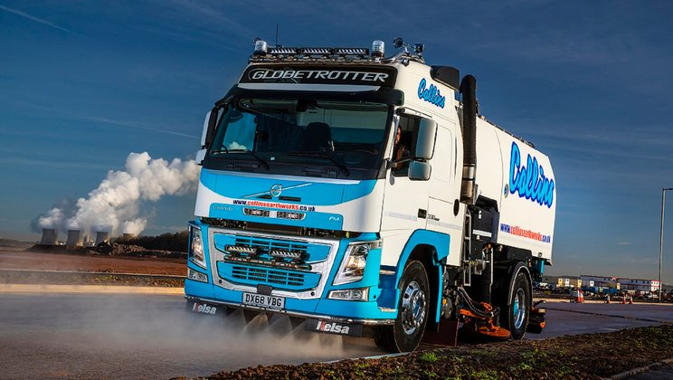 A New Volvo FM Rigid Boosts the Road Sweeper Fleet at Collins Earthworks