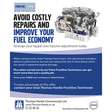 Bus and Coach Frontline Costly Repairs and Improve Your Fuel Economy from Thomas Hardie Commercials Ltd