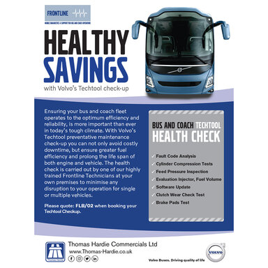 Bus and Coach Frontline Costly Healthy Savings from Thomas Hardie Commercials Ltd