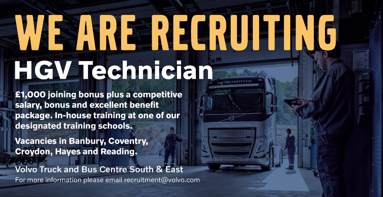 HGV Technician Recruitment at Volvo Truck and Bus Centre South & East